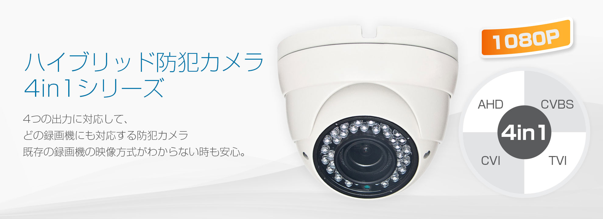 ハイブリッド防犯カメラ4in1シリーズ